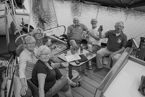 In de zomer gezellig uit eten in Friesland